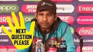 Sarfaraz Ahmed Avoids Question on 2017 Champions Trophy From Journo Ahead of Pakistan vs Bangladesh 2019 ICC Cricket World Cup Match | WATCH VIDEO