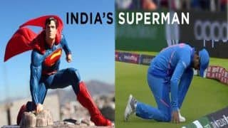 Ravindra Jadeja's Pose After Catch During ICC Cricket World Cup 2019 Semi-Final 1 Between India-New Zealand is a Hit Meme on Twitter | SEE POSTS