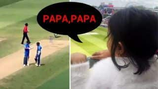 MS Dhoni's Daughter Ziva Cheering For Dad During India vs Bangladesh 2019 World Cup Match at Edgbaston is Too Cute To be Real | WATCH VIDEO