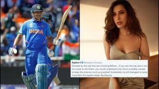 Sophie Choudry Shuts MS Dhoni TROLLS With Splendid Statement During India vs Bangladesh 2019 World Cup Match | SEE POST
