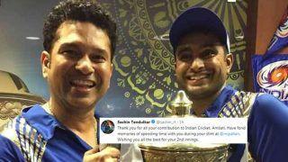 Sachin Tendulkar Thanks Ambati Rayudu After Cricketer Announces Retirement After 2019 ICC CWC Snub | SEE POST