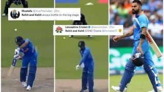 Virat Kohli, Rohit Sharma, KL Rahul Trolled After Top-Order Collapse During ICC Cricket World Cup 2019 Semi-Final 1 Between India-New Zealand   SEE POSTS