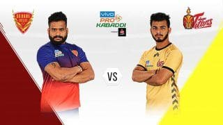 HIGHLIGHTS Pro Kabaddi League 2019, Telugu Titans vs Dabang Delhi KC Match 8: Delhi Edge Out Hyderabad 34-33 to Start Campaign With a Win