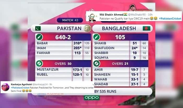 Optimistic' Pakistan Fans Come up With Scorecard of