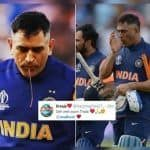 MS Dhoni Spitting Blood After an Injured Thumb During India vs England ICC Cricket World Cup 2019 Game Went Unnoticed | SEE PIC