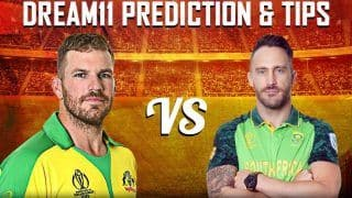 Dream11 Team Prediction Australia vs South Africa ICC Cricket World Cup 2019 - Cricket Prediction Tips For Today's World Cup Match AUS vs SA at Emirates Old Trafford, Manchester