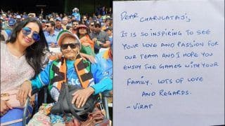 Virat Kohli Provides Tickets to 87-Year-Old Cricket Fan Charulata Ji to Invite Her For India vs Sri Lanka Match in ICC World Cup 2019 at Headingley | SEE POSTS