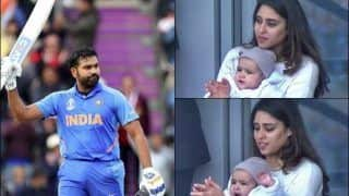 Rohit Sharma's Daughter Samaira and Wife Ritika Sajdeh Applaud Daddy's Record-Breaking Hundred Against Sri Lanka During ICC Cricket World Cup 2019 at Headingley | WATCH VIDEO