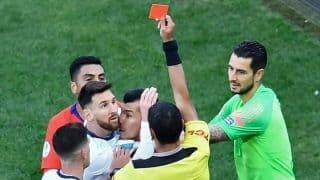 Lionel Messi Got First International Red Card In 14 Years In Copa America 2019 Third Place Playoff Between Argentina, Chile   WATCH VIDEO