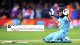Ben Stokes Thanks Friend, Family, Fans For Their Support in ICC Cricket World Cup 2019 | SEE POST