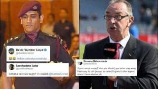 David Lloyd TROLLED For Mocking MS Dhoni's Decision to Serve Army Regiment Over West Indies Tour   SEE POSTS