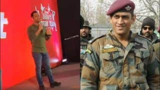MS Dhoni Gives Inspiring Speech at Chennai Before Joining Regiment in Kashmir | WATCH VIDEO