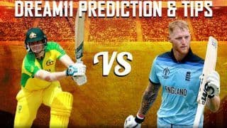 Dream11 Team Australia vs England ICC Cricket World Cup 2019 - Cricket Prediction Tips For Today's World Cup 1st Semifinal Match AUS vs ENG at Edgbaston, Birmingham