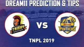 Dream11 Team Ruby Trichy Warriors vs Madurai Panthers Tamil Nadu Premier League 2019 - Cricket Prediction Tips For Today's TNPL Match RUB vs MAD at NPR College Ground, Dindigul