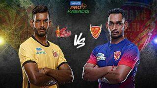 Dream11 Team Telugu Titans vs Dabang Delhi K.C. Pro Kabaddi League 2019 - Kabaddi Prediction Tips For Today's PKL Match 8 HYD vs DEL at Gachibowli Indoor Stadium, Hyderabad