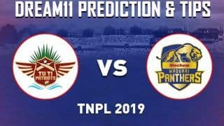 Dream11 Team MAD vs TUT Match 3 TNPL - Cricket Prediction Tips For Today's T20 Match Madurai Panthers vs TUTI Patriots at NPR College Ground, Dindigul