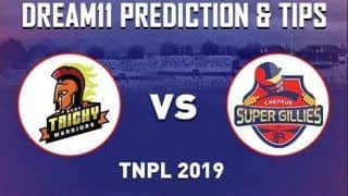 Dream11 Team RTW vs CSG Match 6 TNPL - Cricket Prediction Tips For Today's T20 Match Ruby Trichy Warriors vs Chepauk Super Gillies at Cement Company Ground, Tirunelveli