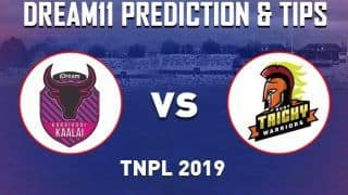 Dream11 Team Ruby Trichy Warriors vs Karaikudi Kaalai Match 2 TNPL - Cricket Prediction Tips For Today's T20 Match RUB vs KAR at NPR College Ground, Dindigul