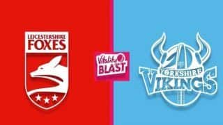 Dream11 Team LEI vs YOR Vitality T20 Blast 2019 - Cricket Prediction Tips For Today's Vitality T20 Blast Leicestershire vs Yorkshire at Grace Road in Leicester