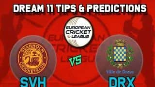 Dream11 Team SVH vs DRX European Cricket League-T10 - Cricket Prediction Tips For Today's Group A ECL-T10 Match Svanholm Cricket Club vs Dreux Cricket Club at La Manga Club