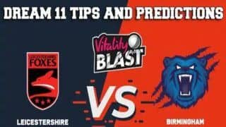 Dream11 Team LEI vs WAS Vitality T20 Blast 2019 – Cricket Prediction Tips For Today's Vitality T20 Blast Warwickshire vs Leicestershire at Birmingham