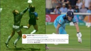 Fans Call Ben Stokes 'Bat of God', Compare it With Diego Maradona's 'Hand of God' After England Beat New Zealand to Clinch Maiden World Cup | SEE POSTS