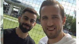 ICC World Cup 2019: इंग्लैंड फुटबाल स्टार हैरी केन ने कोहली के साथ खेला क्रिकेट, दी शुभकामनाएं