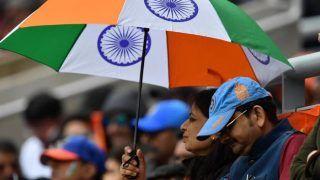 ICC World Cup 2019: भारत-न्यूजीलैंड सेमीफाइनलः बारिश के कारण रुका मैच