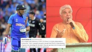 Javed Akhtar Gives Splendid Reason Why MS Dhoni Should Not Retire Amid Speculations After ICC Cricket World Cup 2019 Exit | SEE POST