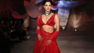 Kiara Advani is a Beauty to Behold in Sparkling Red Bridal Lehenga at ICW 2019