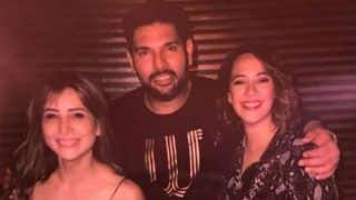 In Pics: Kim Sharma Parties With ex-boyfriend Yuvraj Singh And Wife Hazel Keech at Retirement Bash