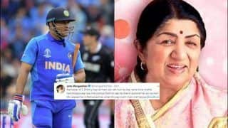 Lata Mangeshkar Asks MS Dhoni Not to Retire With A Heartfelt Tweet After New Zealand Beat India in ICC Cricket World Cup 2019 Against New Zealand | SEE POST