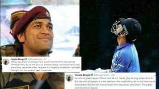 Harsha Bhogle Explains The MS Dhoni Scenario as he Makes Himself Unavailable For West Indies Tour to Serve Army Regiment | SEE POSTS