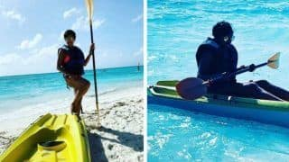 Mandira Bedi Takes Adventurous Ride in 'High Seas' of Maldives in Kayak - Check Stunning Pictures