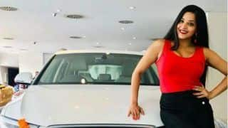 Bhojpuri Bombshell Monalisa Shares Her Hot Pictures With Her New Audi And Hubby Vikrant Singh Rajput