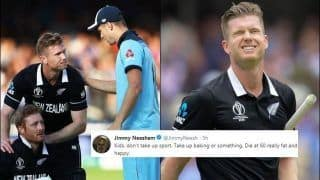 'Kids, Don't Take up Sport': Jimmy Neesham Posts Heartbreaking Tweets After England Beat New Zealand in Super Over to Clinch World Cup | SEE POSTS