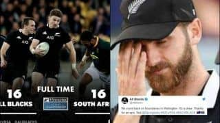 'No Count Back on Boundaries in Wellington': New Zealand Rugby Team TROLLS ICC After Their Game Against South Africa Ended in a Draw