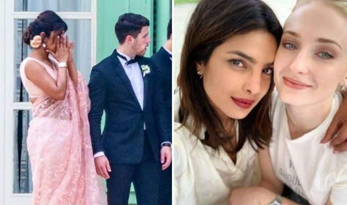 Sophie Turner Wedding.Priyanka Chopra Wipes Off Her Tears At Joe Jonas Sophie Turner