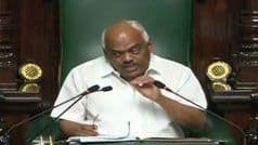 कर्नाटक संकट: विधानसभा में कांग्रेस-JDS विधायकों का हंगामा, लगाए 'संविधान बचाओ' के नारे