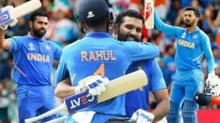 ICC Cricket World Cup 2019 Match 44 Report: Rohit Sharma, KL Rahul Slam Centuries as India Thump Sri Lanka by 7 Wickets to Finish on Top of Points Table