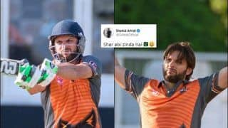 'Sher Abhi Zinda Hai': Shahid Afridi Motivating Reaction After Match Winning 81* Off 40 Balls During GT20 Canada Match Between Edmonton Royals vs Brampton Wolves is EPIC | SEE POST
