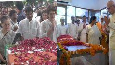 सोनिया, आडवाणी, सुषमा समेत कई नेताओं ने अंतिम दर्शन कर शीला दीक्षित को दी श्रद्धांजलि