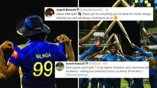'Thank You Lasith Malinga': Jasprit Bumrah, Sachin Tendulkar to Suresh Raina, Mustafizur Rahman, How Cricket Fraternity Said Goodbye to Yorker King | SEE POSTS