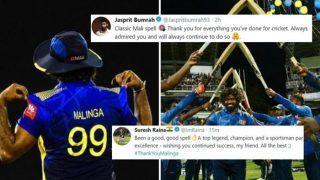 'Thank You Lasith Malinga': Jasprit Bumrah, Sachin Tendulkar to Suresh Raina, Mustafizur Rahman, How Cricket Fraternity Said Goodbye to Yorker King | SEE POSTS