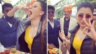 Watch: Urvashi Rautela Eats Gol Gappe And it is The Proof That Even Celebrities Have Cravings