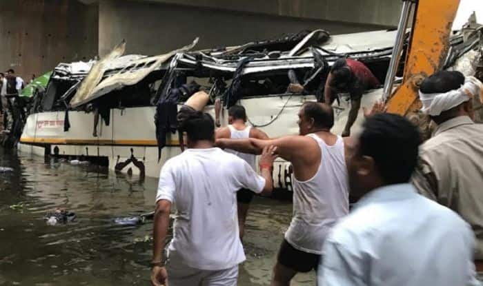 Image result for agra bus accident yogi