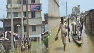बिहार: थाने में घुसा बाढ़ का पानी, आने-जाने को नाव का इस्तेमाल कर रही पुलिस, ऐसा है नजारा