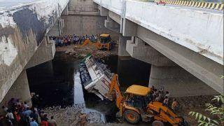 आगरा के पास यमुना एक्सप्रेस वे पर भीषण हादसा, नाले में गिरी बस, 29 लोगों की मौत