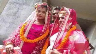 वाराणसी में मौसेरी बहनों ने आपस में रचाई शादी, सोशल मीडिया में फोटो वायरल