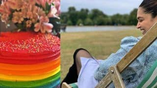 Deepika Padukone Shares Ranveer Singh's Birthday Cake And It's Like Rainbow Happiness For The Couple